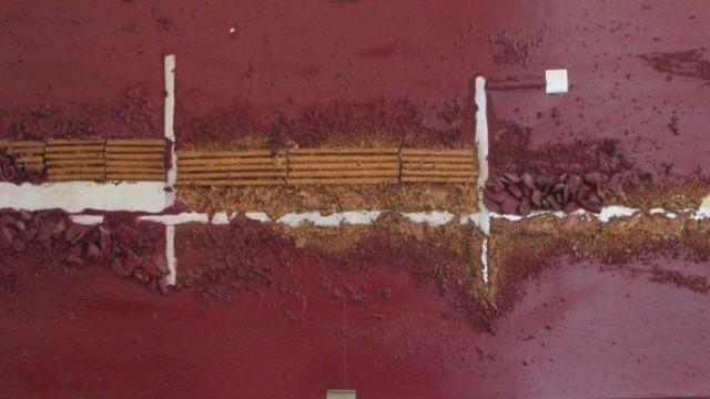 Technique mixte sur papier marouflé sur bois, 1987