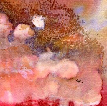 Flamboyant, encre, pigments et acrylique sur papier, 2011